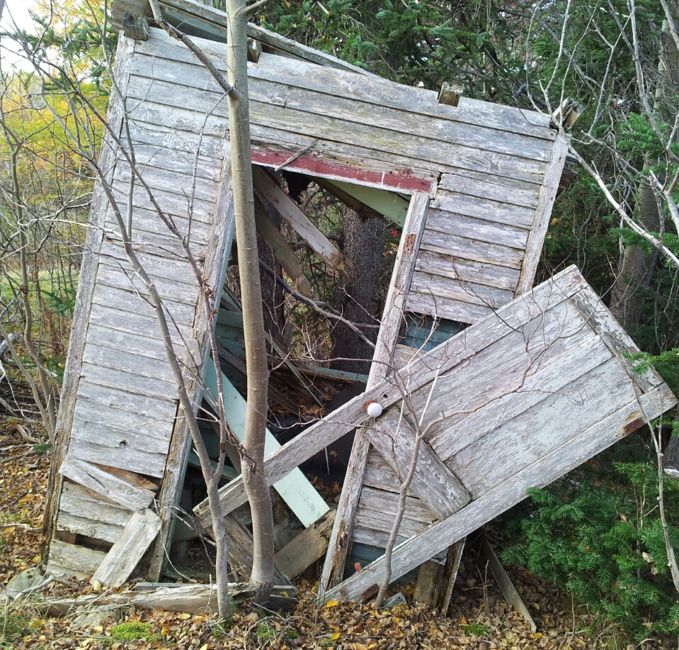 All that remains of Uncle Hay's old outhouse. Thanks Eric Cooper